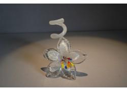 Svícen květina z hutního skla 10x13cm XI.