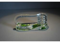 Svícen motaný z hutního skla 6x13cm IV.