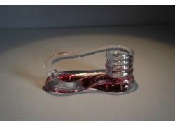 Svícen motaný z hutního skla 6x13cm V.