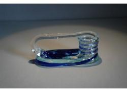 Svícen motaný z hutního skla 6x13cm VI.