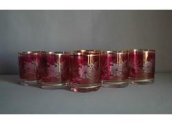 Barline 280ml listr set 6ks dekor květina červená