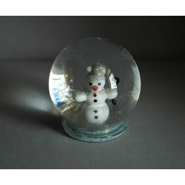 Sněžící koule sněhulák 60mm www.sklenenevyrobky.cz