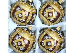 Christmas balls set 4 pieces, balls 10 cm www.sklenenevyrobky.cz