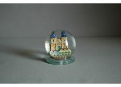 Sněžící koule 60mm Týnský chrám keramika
