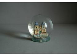 Sněžící koule 80mm Týnský chrám keramika