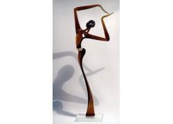 African man XXL2 42 cm www.sklenenevyrobky.cz