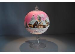 Candle ball 12cm, pink www.sklenenevyrobky.cz