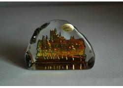Skleněná plaketa Pražský hrad marea