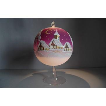 Vánoční koule na svíčku 15cm fialová