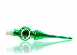 Christmas Tree Topper-small, green www.sklenenevyrobky.cz