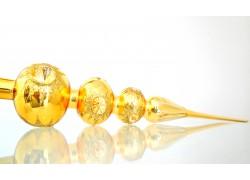 Vánoční špice 3kulová zlatý lesk 587