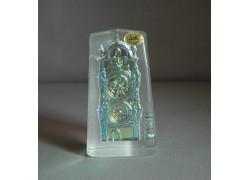 Plaketa Orloj ze skla AB 6x11x3 cm