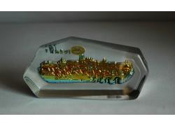 Skleněná plaketa Pražský hrad dlouhá marea