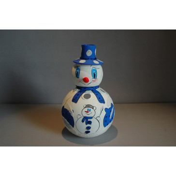 Sněhulák na svíčku 18cm modrý