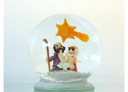 Snow globe Christmas Bethlehem www.sklenenevyrobky.cz