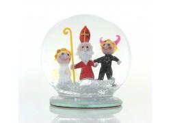 Snow globe Nicholas, devil and angel www.sklenenevyrobky.cz