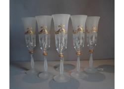 Angela 190ml flétna 6ks svatební sklenice