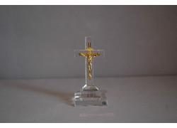 Skleněný křížek 8x4cm čirý