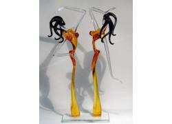 Afrodita duo L3 32 cm www.sklenenevyrobky.cz