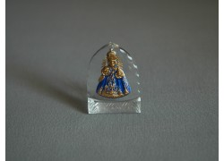 Infant Jesus of Prague from glass 3x4cm www.sklenenevyrobky.cz