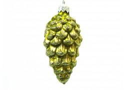 Christmas ornament, cone www.sklenenevyrobky.cz