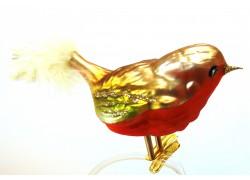 Christmas ornament bird, Blackbird www.sklenenevyrobky.cz