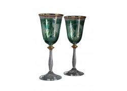 Angela listr duo dekor víno zelená