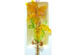 Glass flowers smaller www.sklenenevyrobky.cz