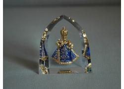 Infant Jesus of Prague blue clothes www.sklenenevyrobky.cz