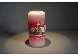 Vánoční svícen cylindr velký 7x15cm červený