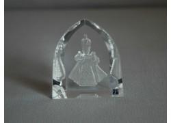 Infant Jesus of Prague frosted glass www.sklenenevyrobky.cz