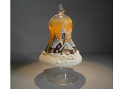 Bell on a candle 12cm, orange www.sklenenevyrobky.cz