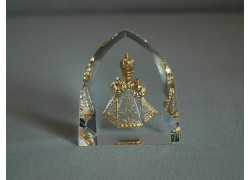 Infant Jesus of Prague clear glass plaque www.sklenenevyrobky.cz