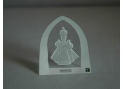 Pražské jezuliatko matované sklo plaketa