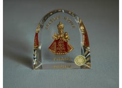 Pražské Jezulátko velké Praha červené 6x6,5 cm