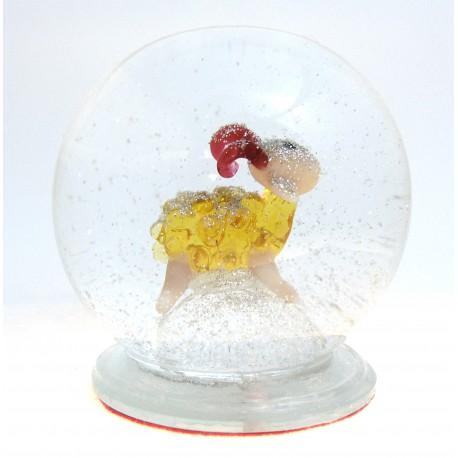 Snow globe with lamb www.sklenenevyrobky.cz