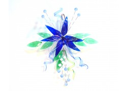 Květina na zavěšení www.sklenenevyrobky.cz