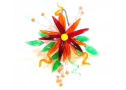 Kvetina zo skla na zavesenie www.sklenenevyrobky.cz