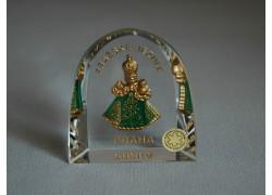 Pražské Jezulátko velké Praha zelené 6x6,5 cm