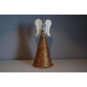 Skleněný anděl velký 15cm 49.
