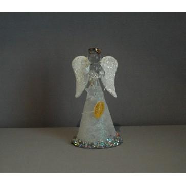 Skleněný anděl střední 11cm 36.