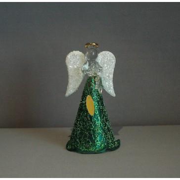Skleněný anděl střední 11cm 39.