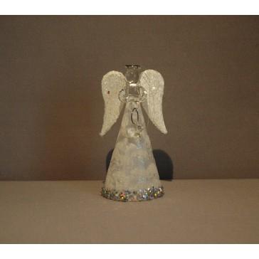 Skleněný anděl malý 9,5cm 34.