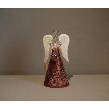 Skleněný anděl malý 9,5cm 40.