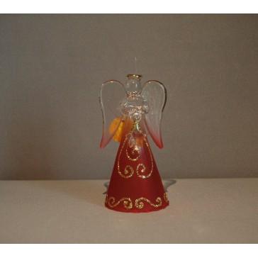 Skleněný anděl malý 9,5cm 42.