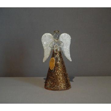 Skleněný anděl 9,5 cm 46. www.sklenenevyrobky.cz