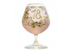 Birthday Glass 18 years www.sklenenevyrobky.cz
