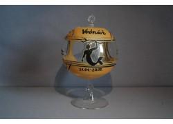 Balls on candle 12cm, stand, zodiac sign Aquarius www.sklenenevyrobky.cz