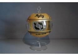 Candle ball 12cm, stand, zodiac sign fish www.sklenenevyrobky.cz