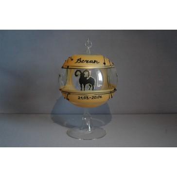 Koule na svíčku ZODIAC 12cm +stojan BERAN